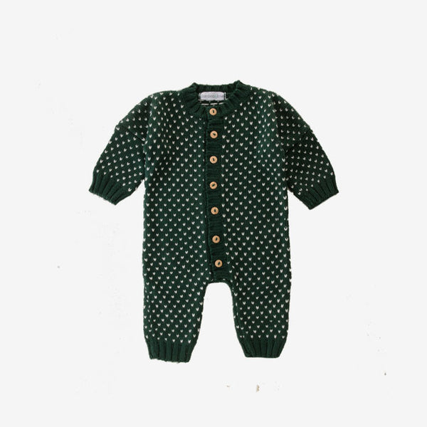 Bamboo Pickle Dot Jumpsuit - Forest