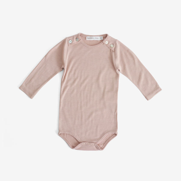 Button-shoulder Bamboo Onesie