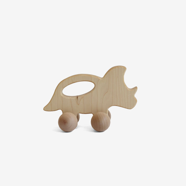 Wooden Dino Push-a-long Toy