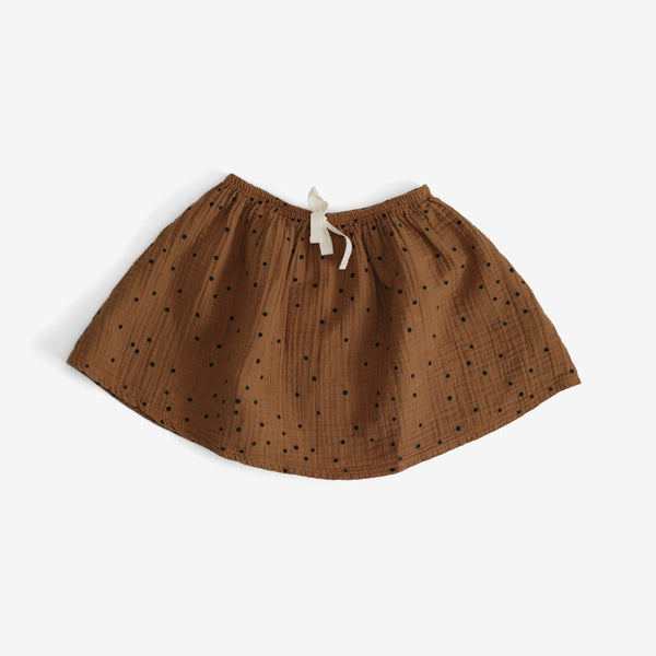 Steamboat Polka Dot Skirt - Camel