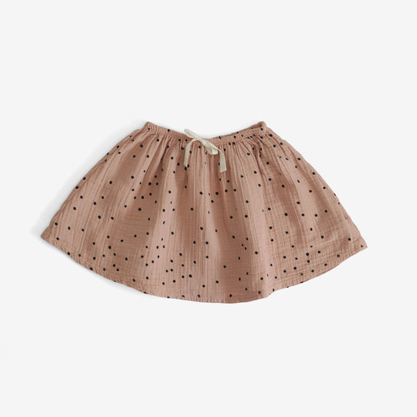Steamboat Polka Dot Skirt - Salmon