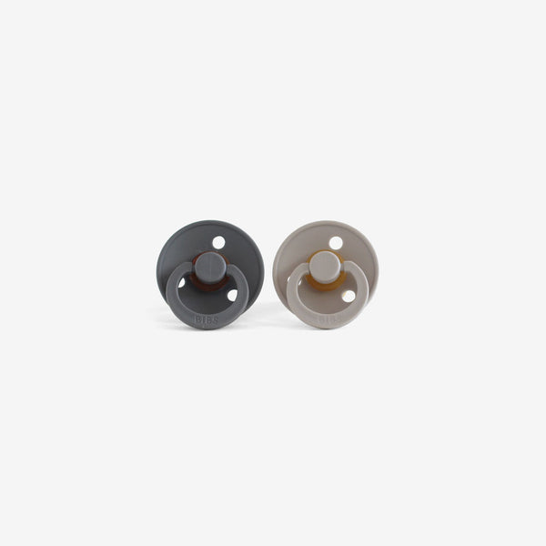BiBS Pacifiers Set of 2 - Iron