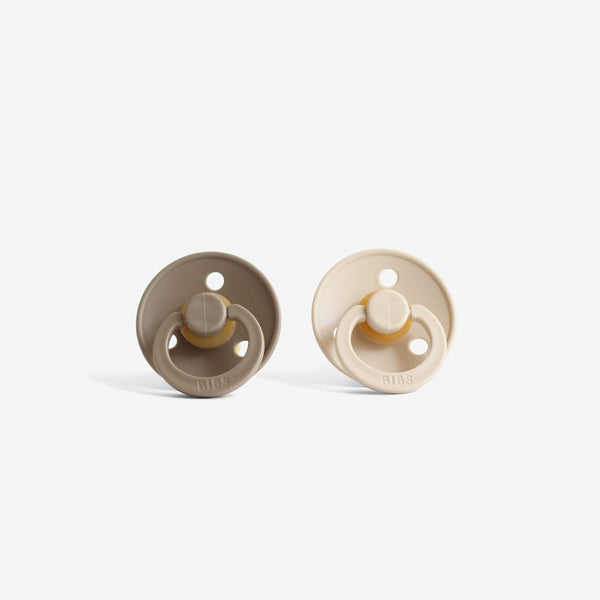BiBS Pacifiers Set of 2 - Taupe
