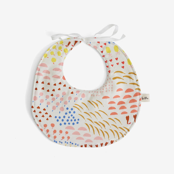 Organic Terry Baby Bib - Apple-a-Day