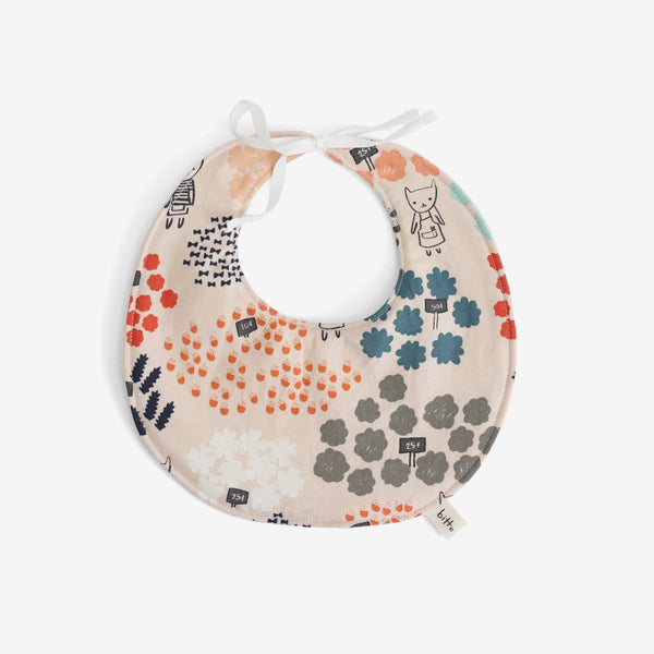 Organic Terry Baby Bib - Flower Shop