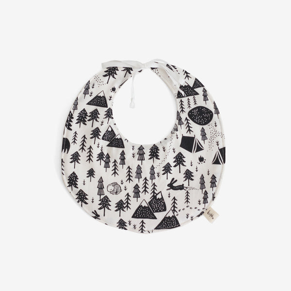 Organic Terry Baby Bib - Harvest Moon