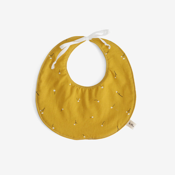 Organic Terry Baby Bib - Marigold Wishes