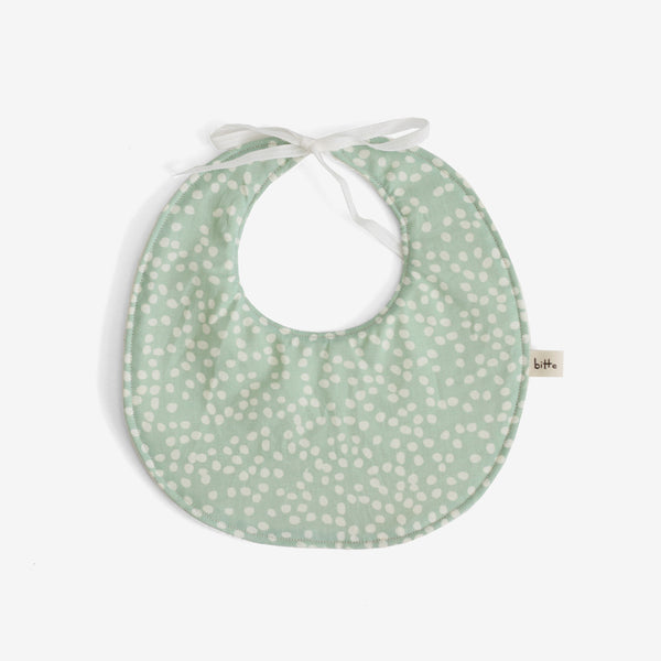 Organic Terry Baby Bib - Mint Dot
