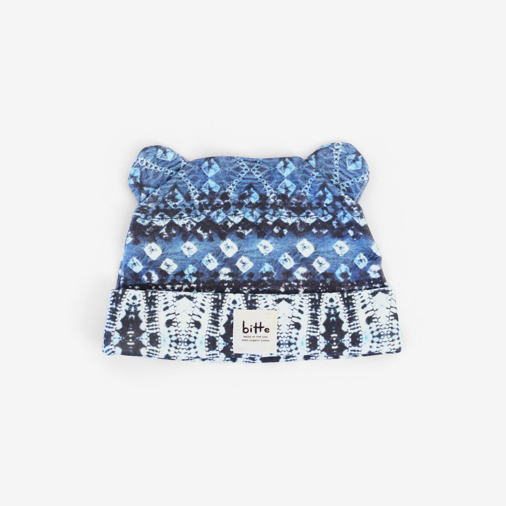 Shibori Organic Little Bear Beanie