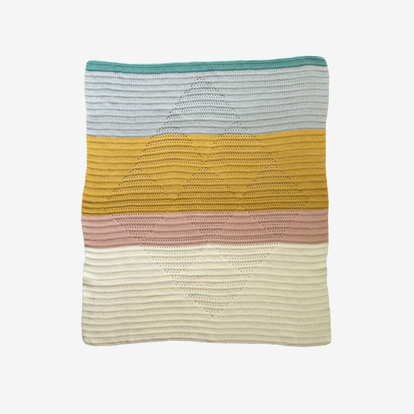 Diamond Cotton Blanket - Sahara