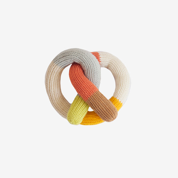 Pretzel Rattle - Orange