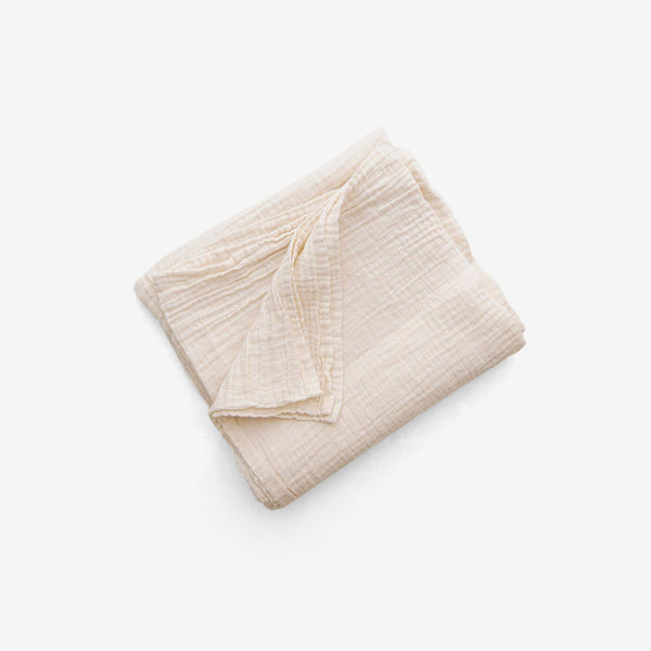 Organic Undyed Cotton Muslin Swaddle