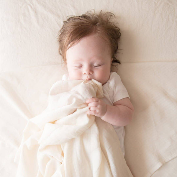 Organic Undyed Cotton Crib Sheet