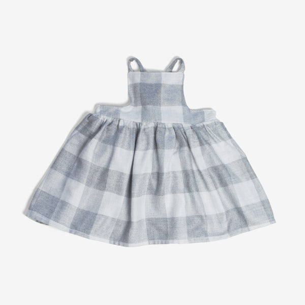 Apron Dress - Grey Plaid
