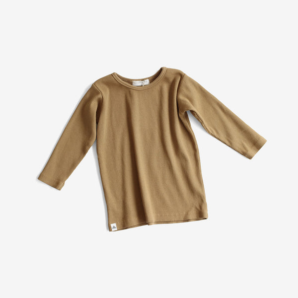 Basic Ribbed L/S Tee - Bronze