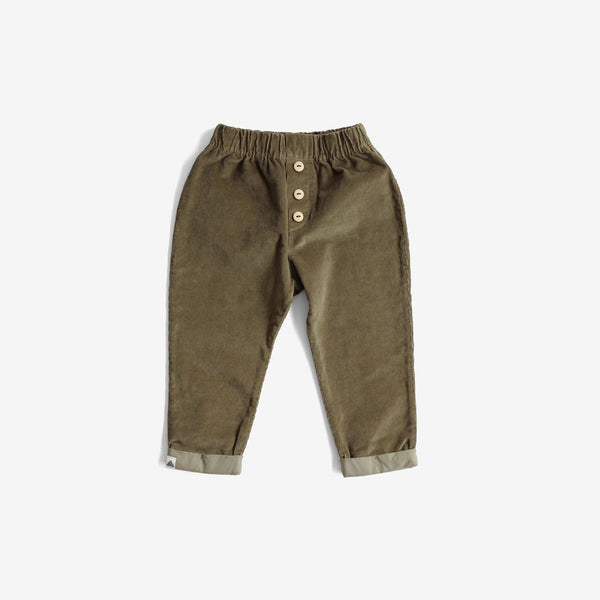Cotton Corduroy Trousers - Olive