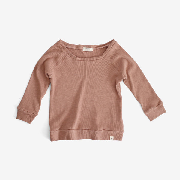 Thermal Raglan-sleeve Top - Mauve