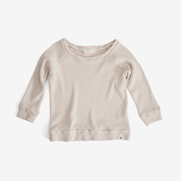 Thermal Raglan-sleeve Top - Natural