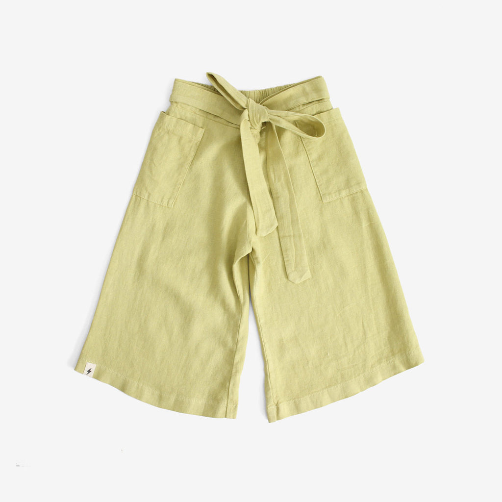 Wide Leg Crop - Citron