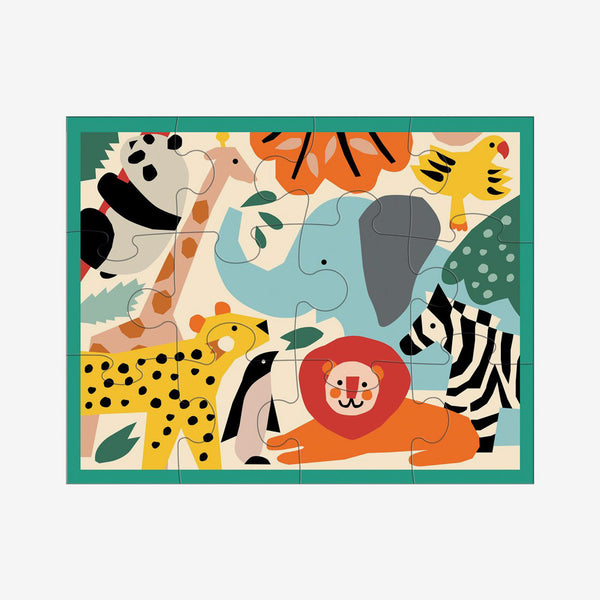 Pouch Puzzle: Zoo Animals