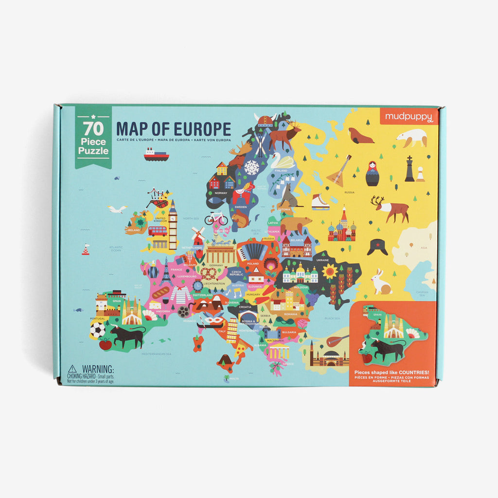Map of Europe - 70 piece Puzzle