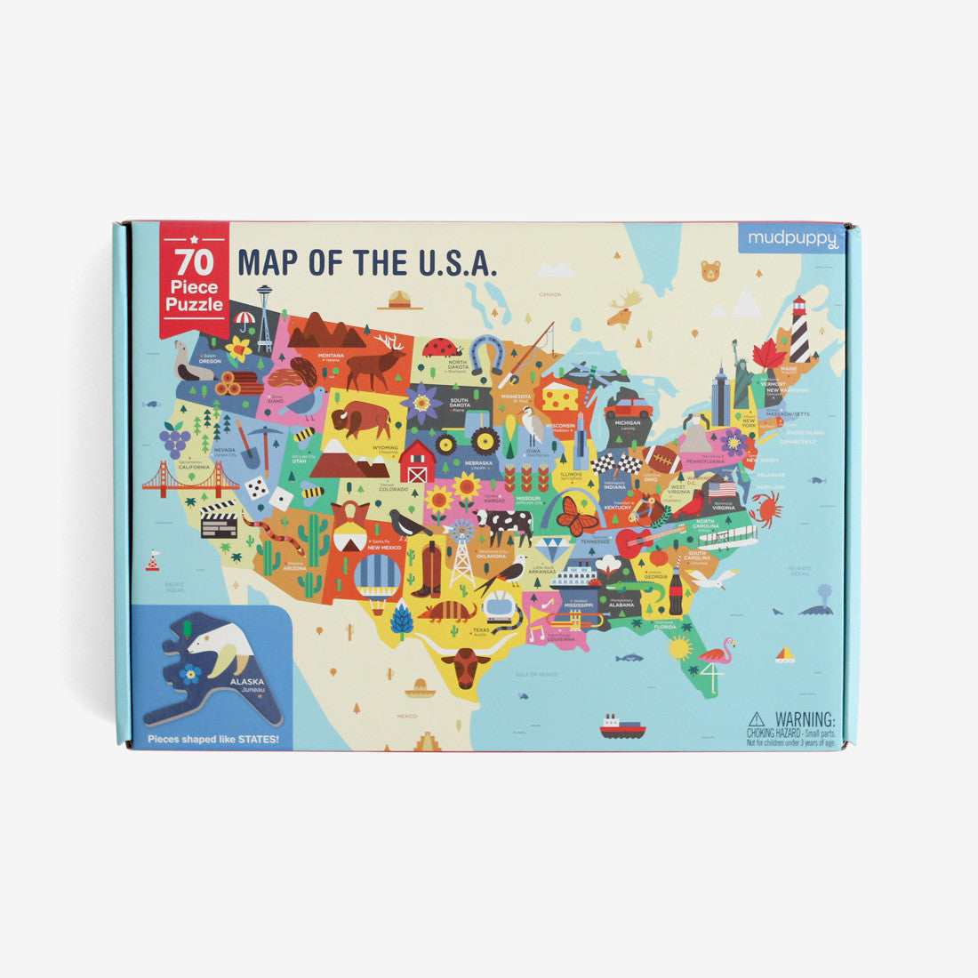 Map of the USA - 70 piece Puzzle