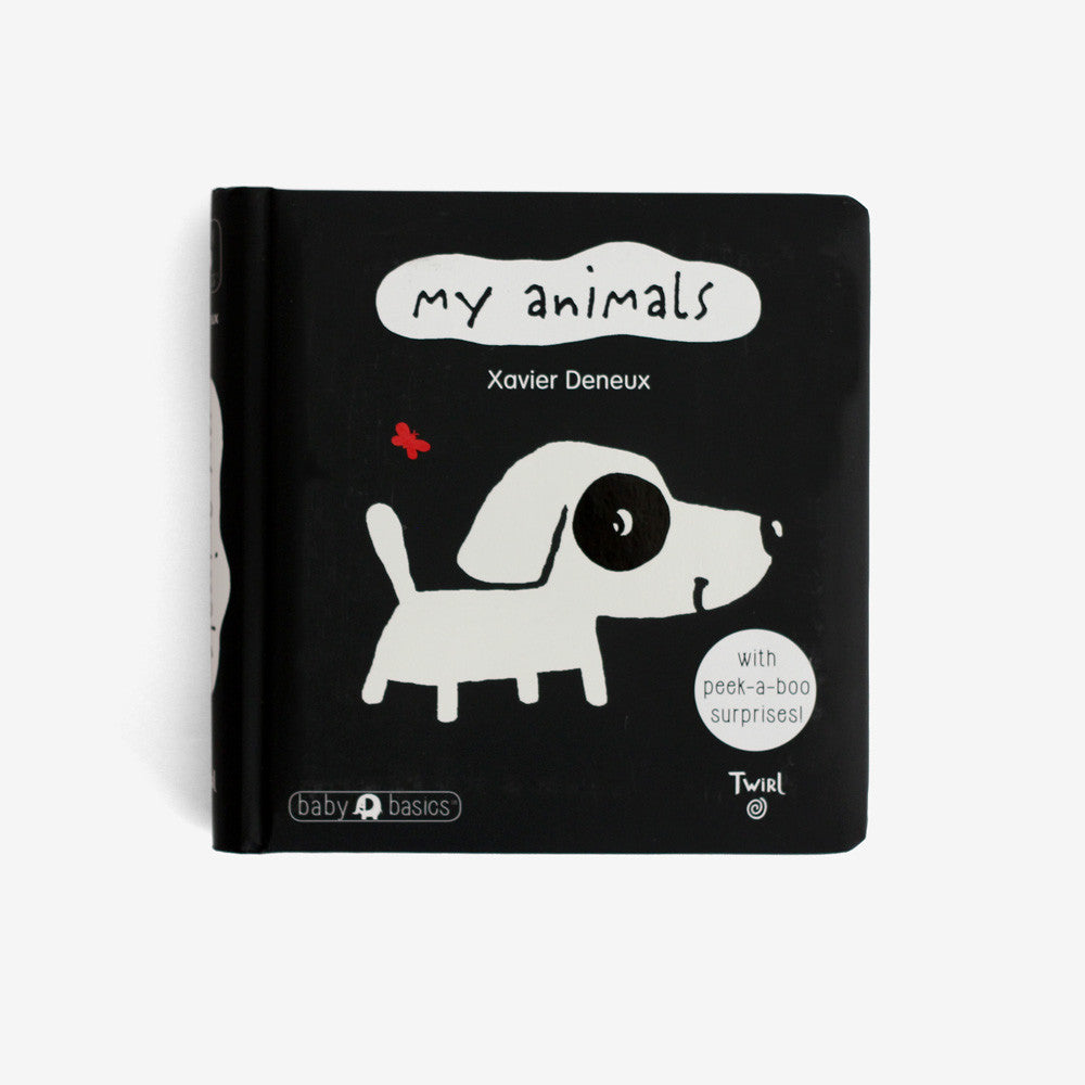 My Animals Board Book - with peek-a-boo surprises