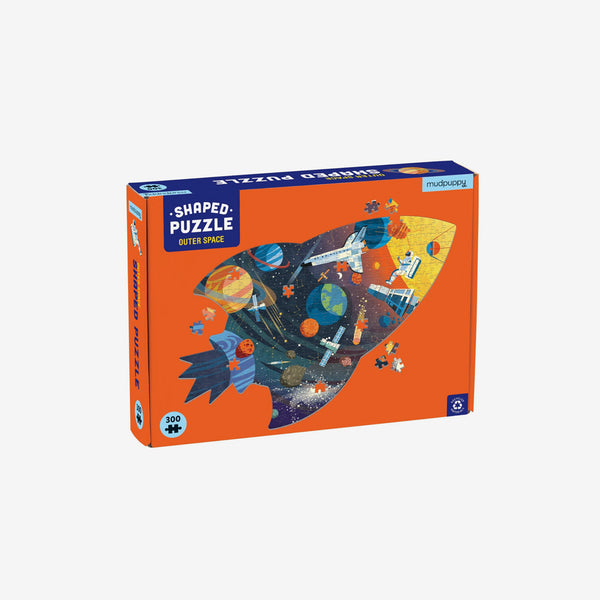 300-Piece Shaped-Scene Puzzle - Outer Space