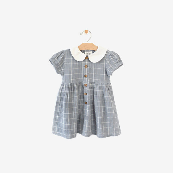 Classic Organic Woven Dress - Windowpane