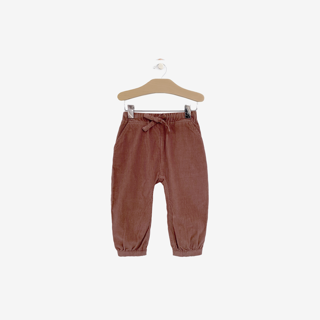 Organic Corduroy Slouchy Pant - Rosewood