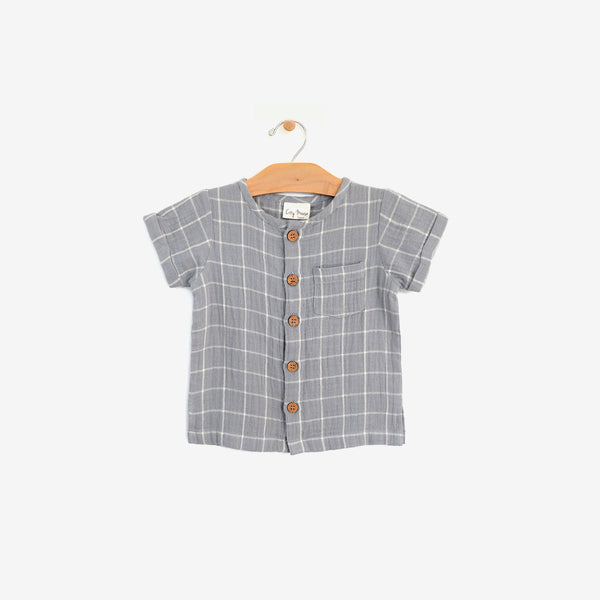 Organic Cotton Button-down - Windowpane