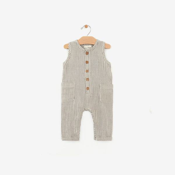 Organic Cotton Tank Romper - Stripe