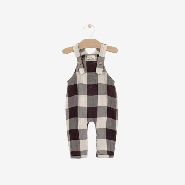 Organic Crinkle Cotton Overall - Buffalo Check