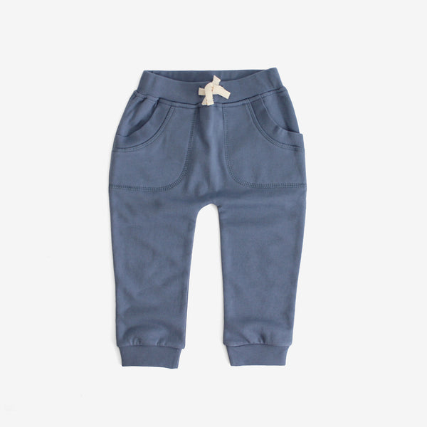 Organic Fleece Sweat Pants - blue