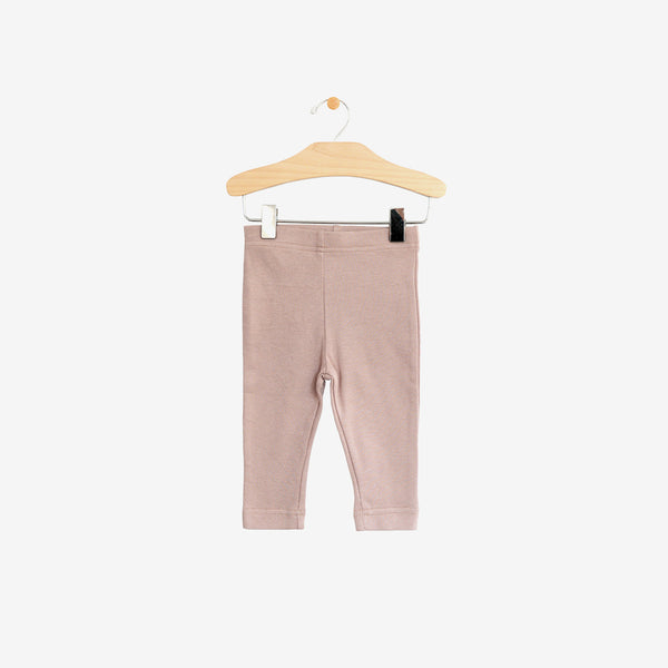 Organic Jersey Leggings - Dusty Mauve