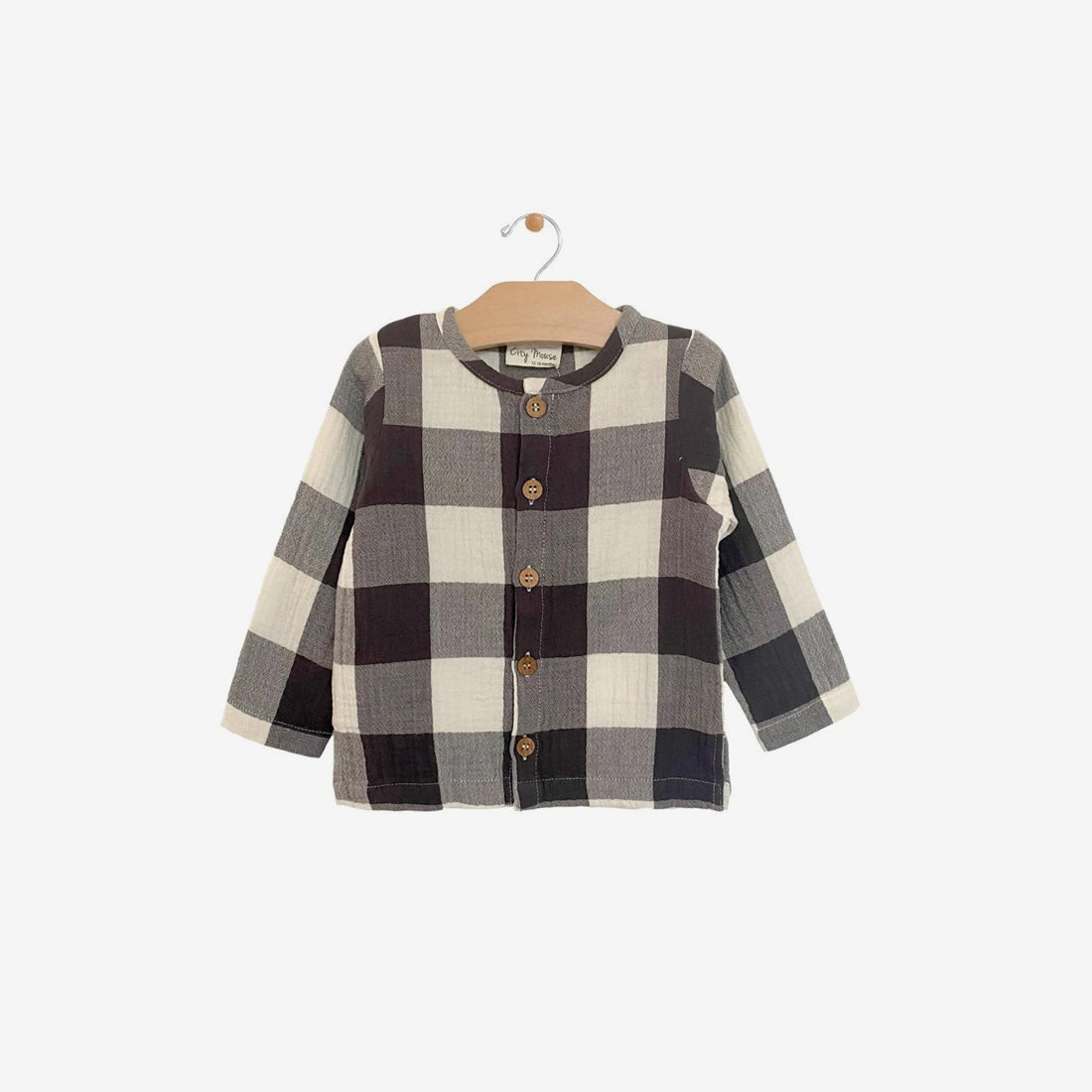 Organic Crinkle Cotton Button-Up Shirt - Buffalo Check
