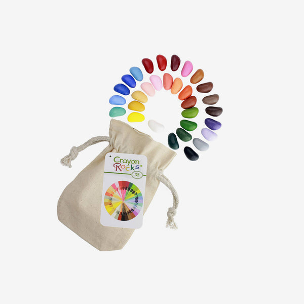Crayon Rocks in Muslin Bag - 32 Colors
