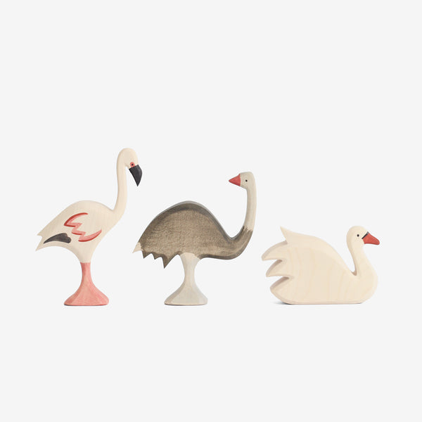 Waldorf Wooden Big Birds Set of 3