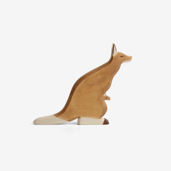 Waldorf Wooden Kangaroo with Joey