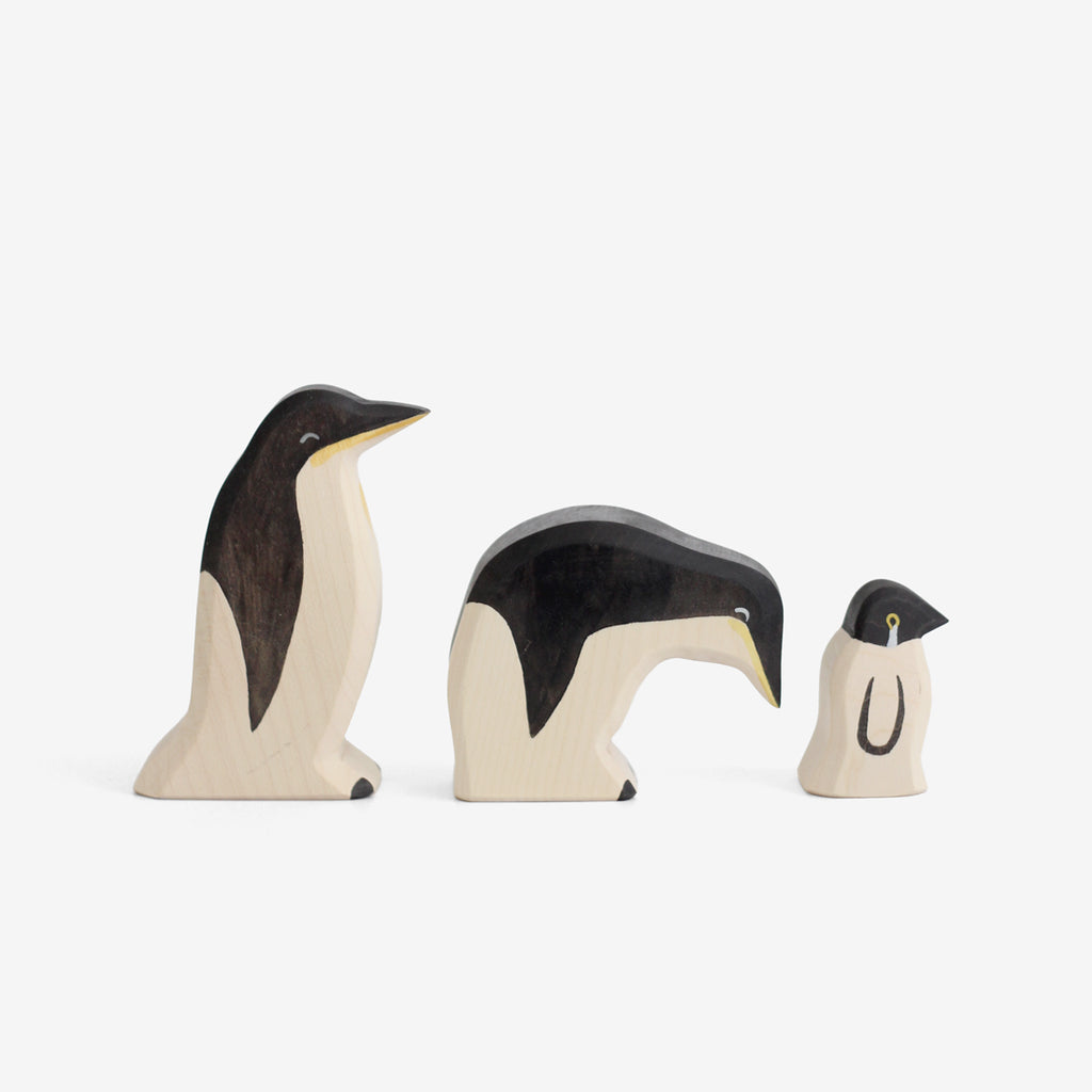 Waldorf Wooden Penguin Family