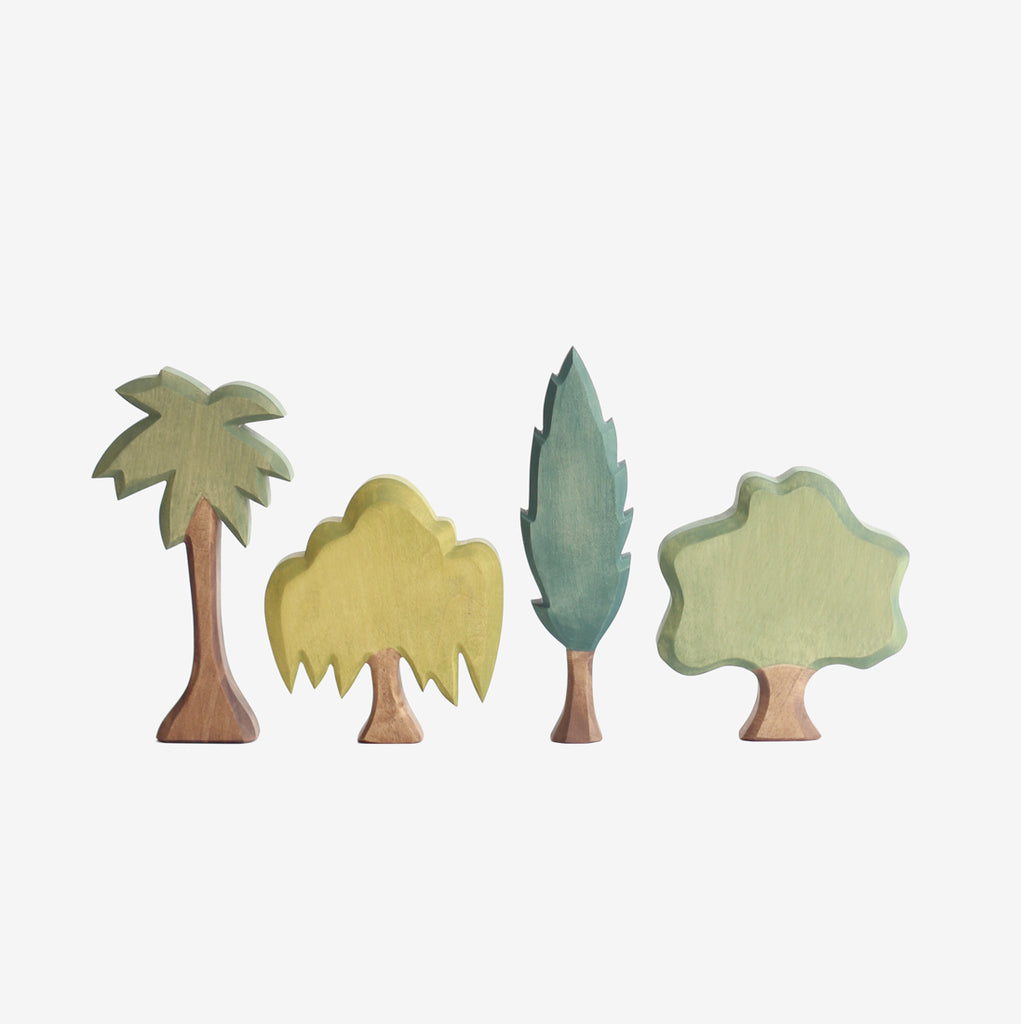 Waldorf Wooden Trees - Set B