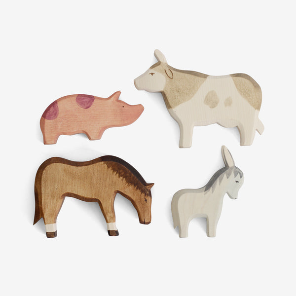 Waldorf Wooden Farm Animals Set