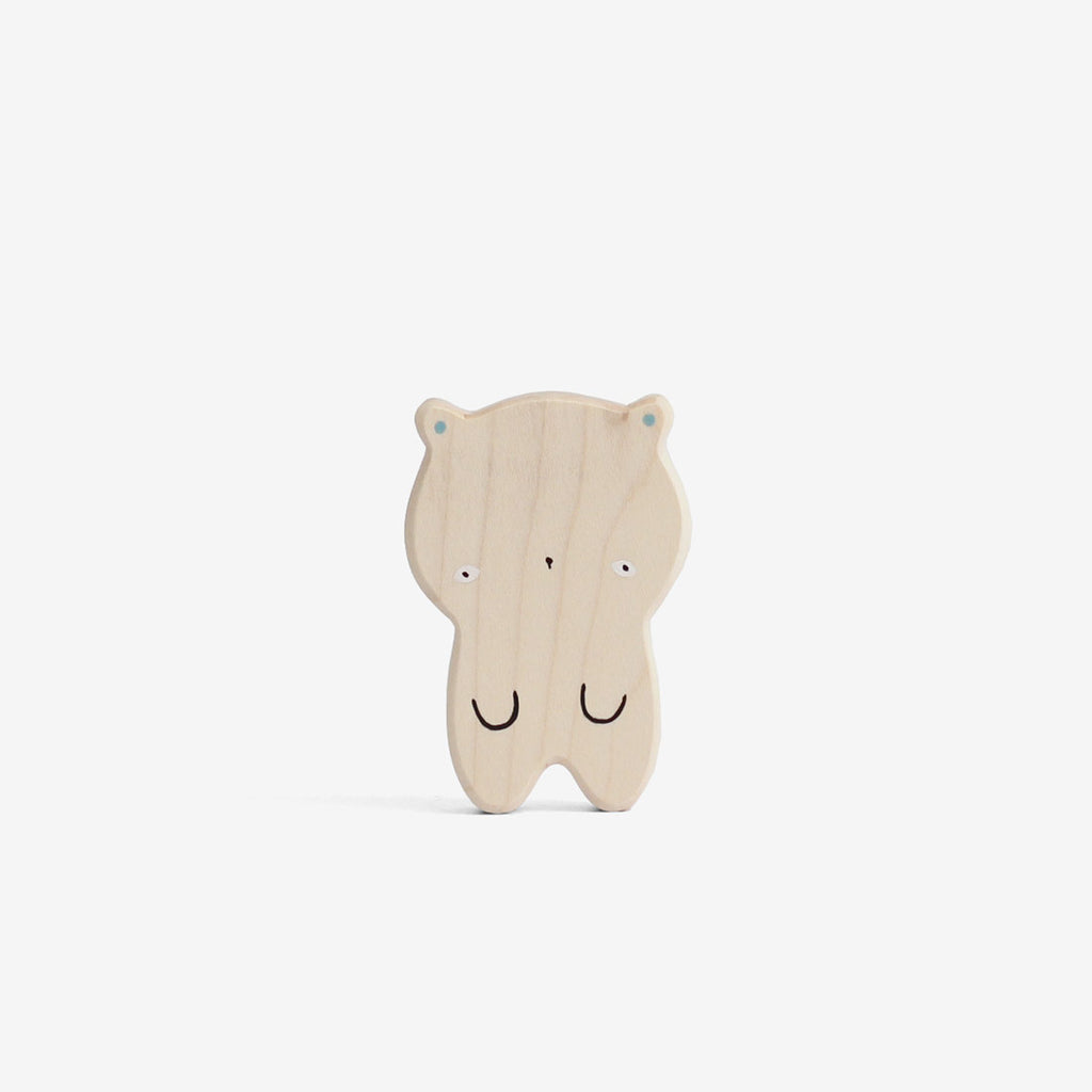 Japanese Kawaii Wooden Bear