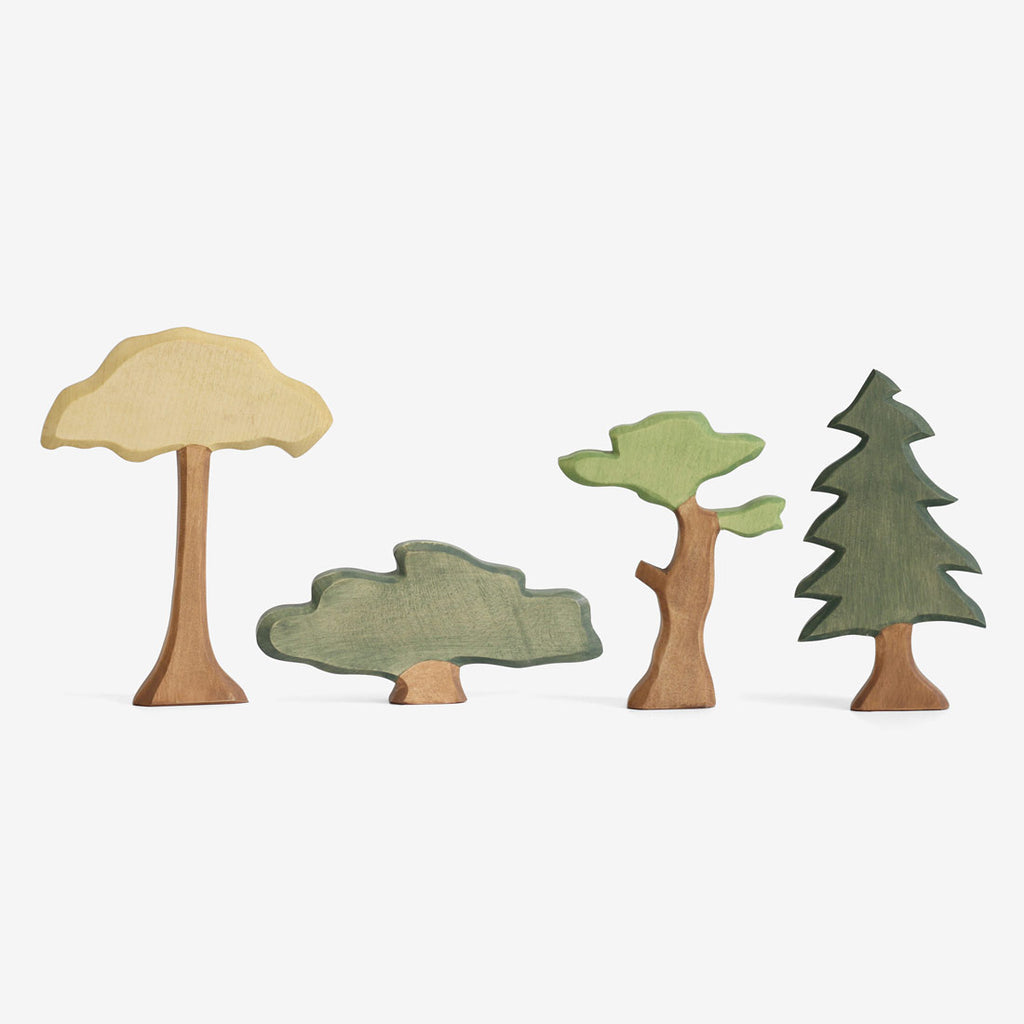 Waldorf Wooden Trees Set of 4