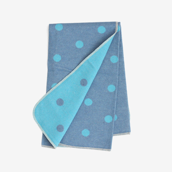 Polka Dot Stroller Blanket - Blues