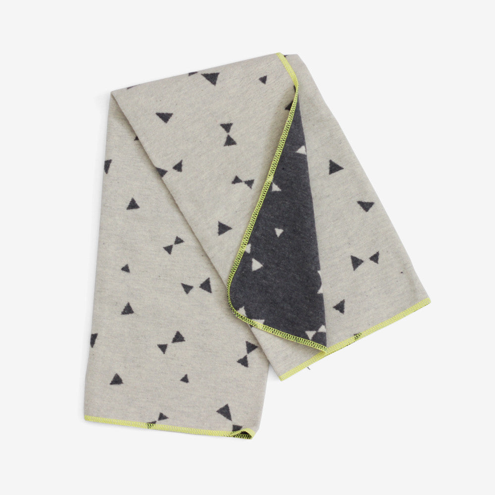 Triangles Baby Blanket - Soft Grey