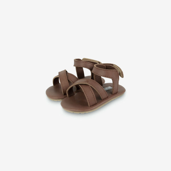 Giggles Leather Baby Sandals - Cognac