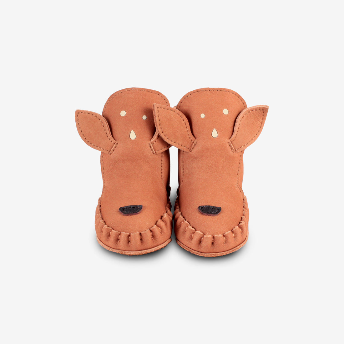 KAPI Shearling Leather Baby Boots - Fawn