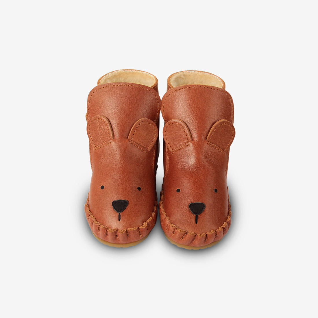 KAPI Shearling Leather Baby Boots - Bear