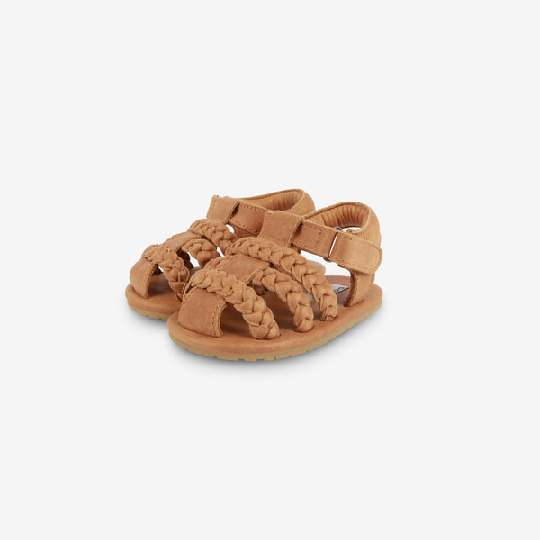 Pam Leather Baby Sandal - Camel